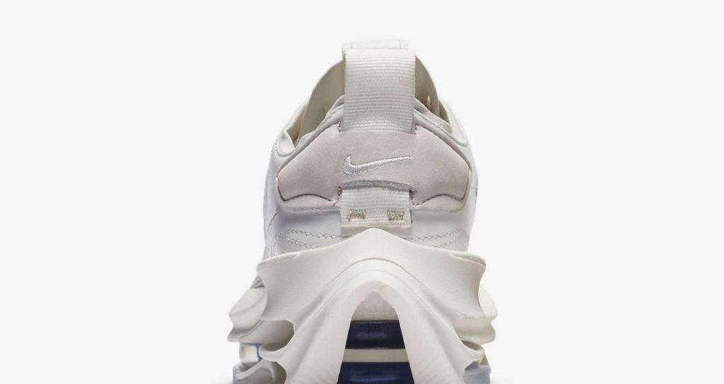 """ナイキ ウィメンズ ズーム ダブル スタックド """"サミットホワイト"""" nike-summit-white-ci0804-100-womens-zoom-double-stacked-heel-closeup"""