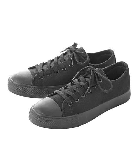 とにかく安い!3000円以下の神コスパ黒スニーカー-black-ladies-sneakers-winter-style-nissen-Low-cut-casual-sneakers