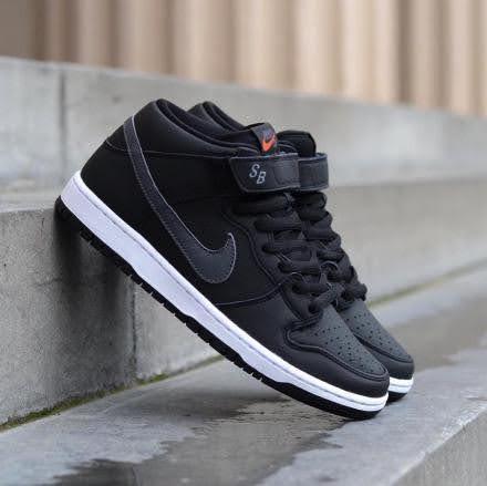 Nike SB Dunk Mid ISO Orange Label Black Dark Grey (CV4283-001)