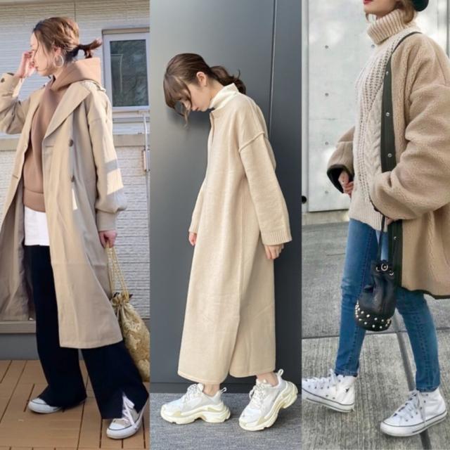 冬 スニーカー コーデ おすすめ sneakers in winter outfit ideas