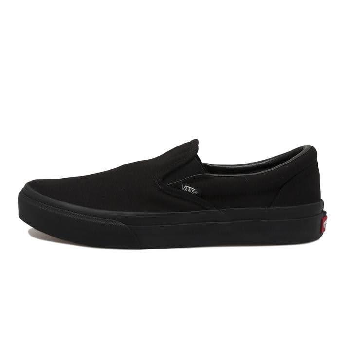 VANS スリッポン-black-ladies-sneakers-winter-style-vans-black-slipon