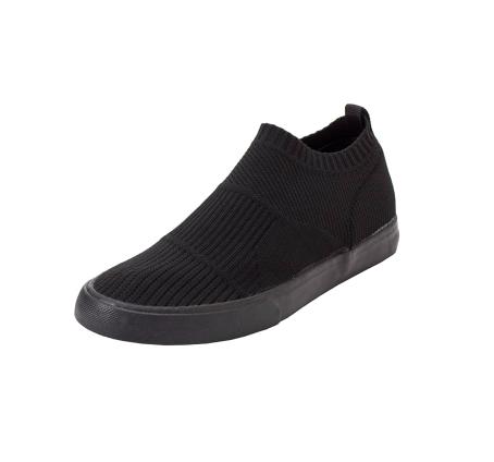 とにかく安い!3000円以下の神コスパ黒スニーカー-black-ladies-sneakers-winter-style-workman-knit-shoes