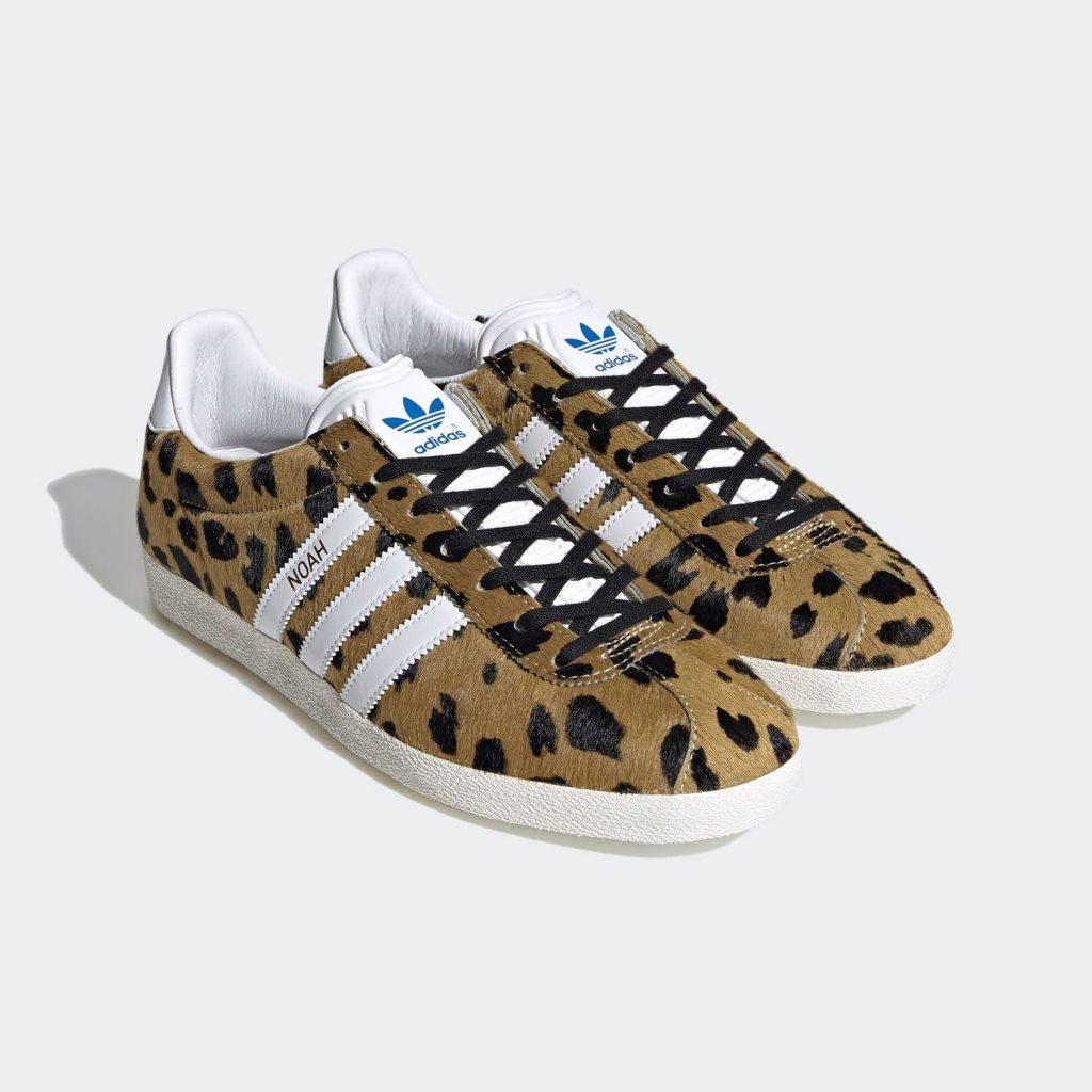 """ノア × アディダス オリジナルス ガゼル OG 全2色Noah x Adidas Gazelle OG """"cheetah""""-FY5378-pair"""