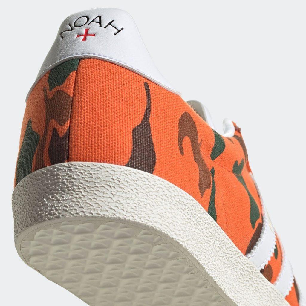 """ノア × アディダス オリジナルス ガゼル OG 全2色 Noah x Adidas Gazelle OG """"Orange Camo""""-heel"""