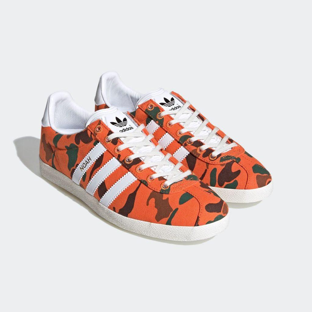 """ノア × アディダス オリジナルス ガゼル OG 全2色 Noah x Adidas Gazelle OG """"Orange Camo""""-FY5381-pair"""