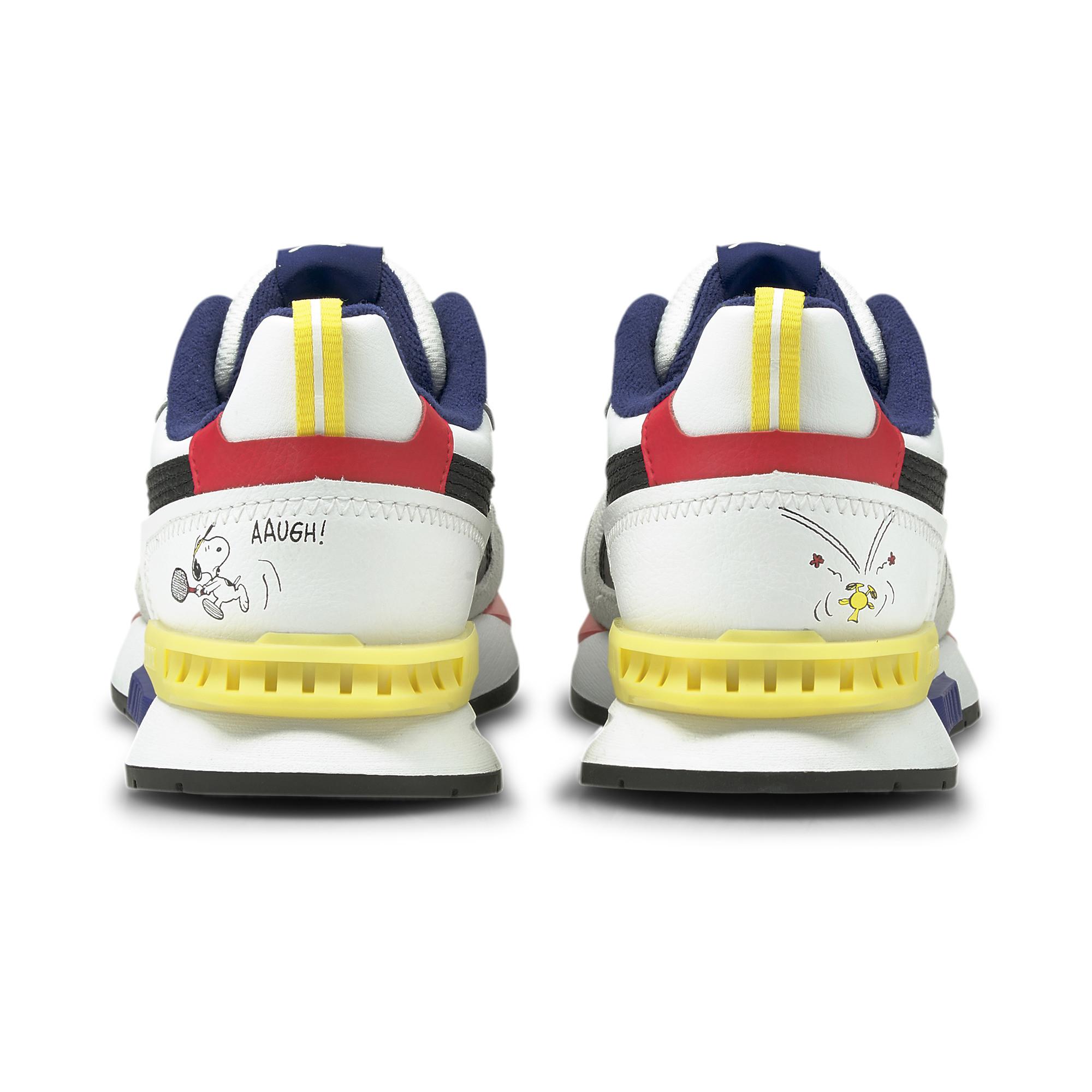 Peanuts x Puma Kids MIRAGEMOX ピーナッツ x プーマ キッズ ミラージュ モックス 色:Puma White-Elektro Blue