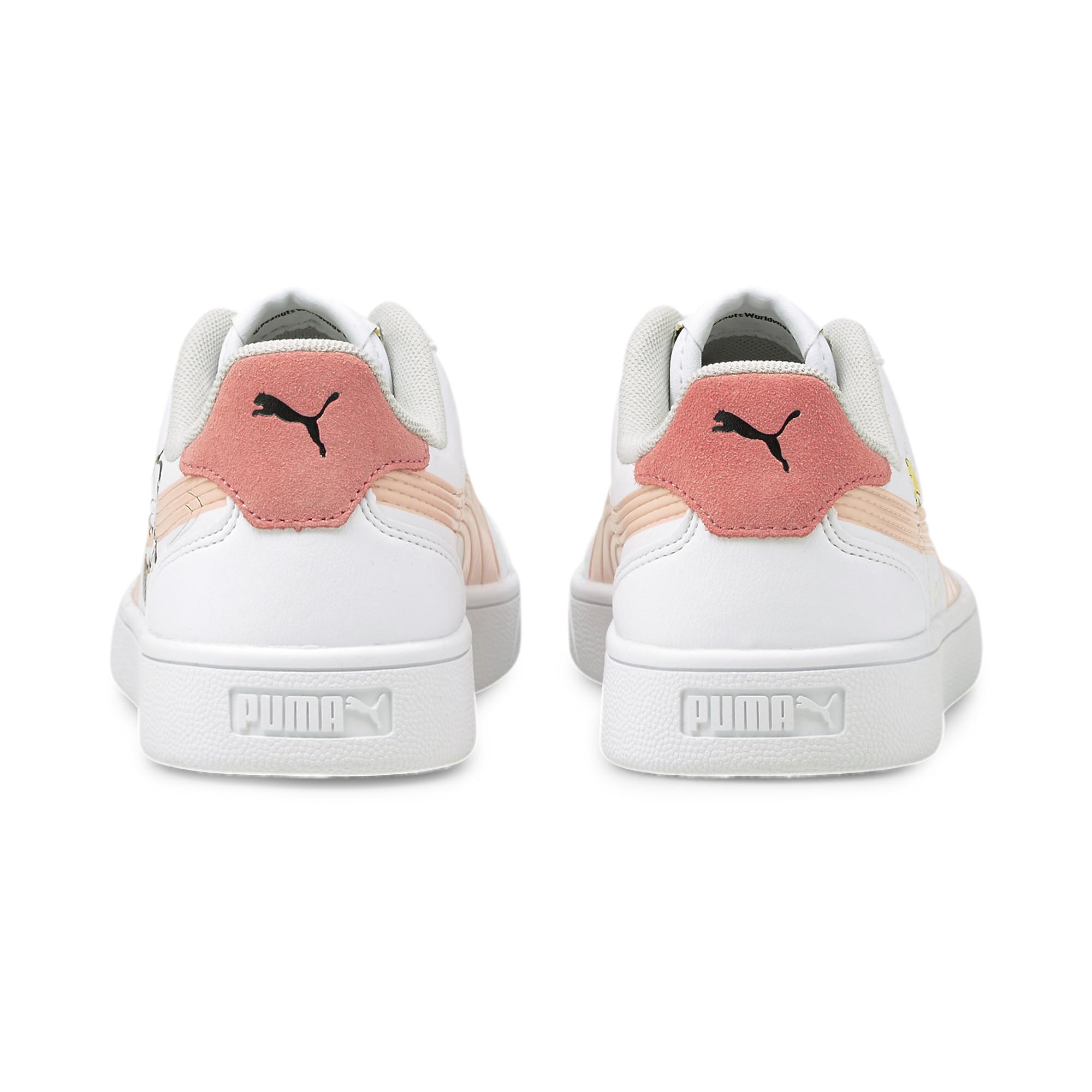 Peanuts x Puma Kids Puma Shuffle ピーナッツ x プーマ キッズ プーマ シャッフル 色:White-Apricot-SCoral-Black