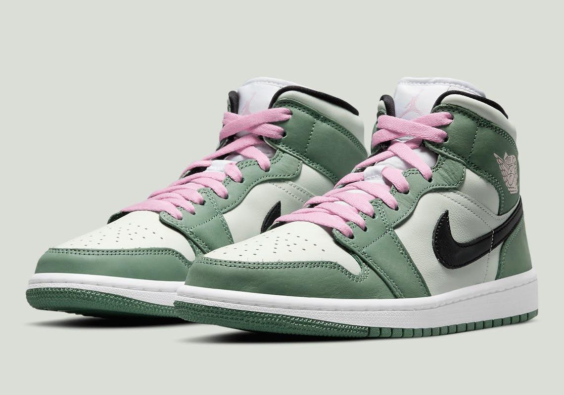 """ナイキ エア ジョーダン 1 ミッド SE """"ダッチグリーン"""" Nike-Air-Jordan-1-Mid-CZ0774-300-Dutch-Green-pair"""
