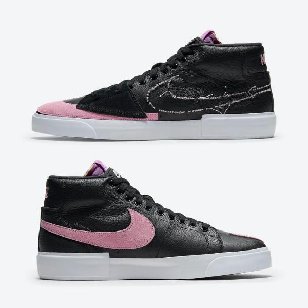 """ナイキ SB ブレーザー ミッド エッジ """"パープルネブラ"""" Nike-SB-Blazer-Mid-Edge-Black-Purple-Nebula-Pink-Rise-DA2189-002-eyecatch"""