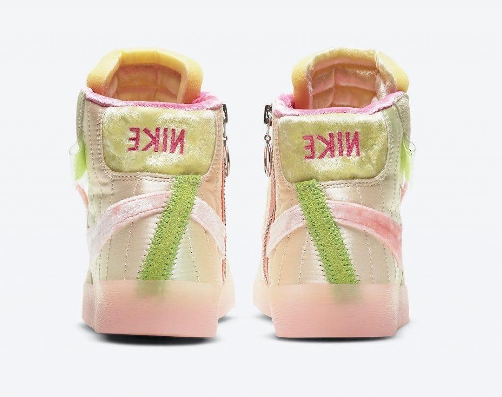 """ナイキ ブレーザー ミッド レベル """"スプリング フェスティバル Nike-Blazer-Mid-Rebel-Spring-Festival-DD8482-163-heel"""