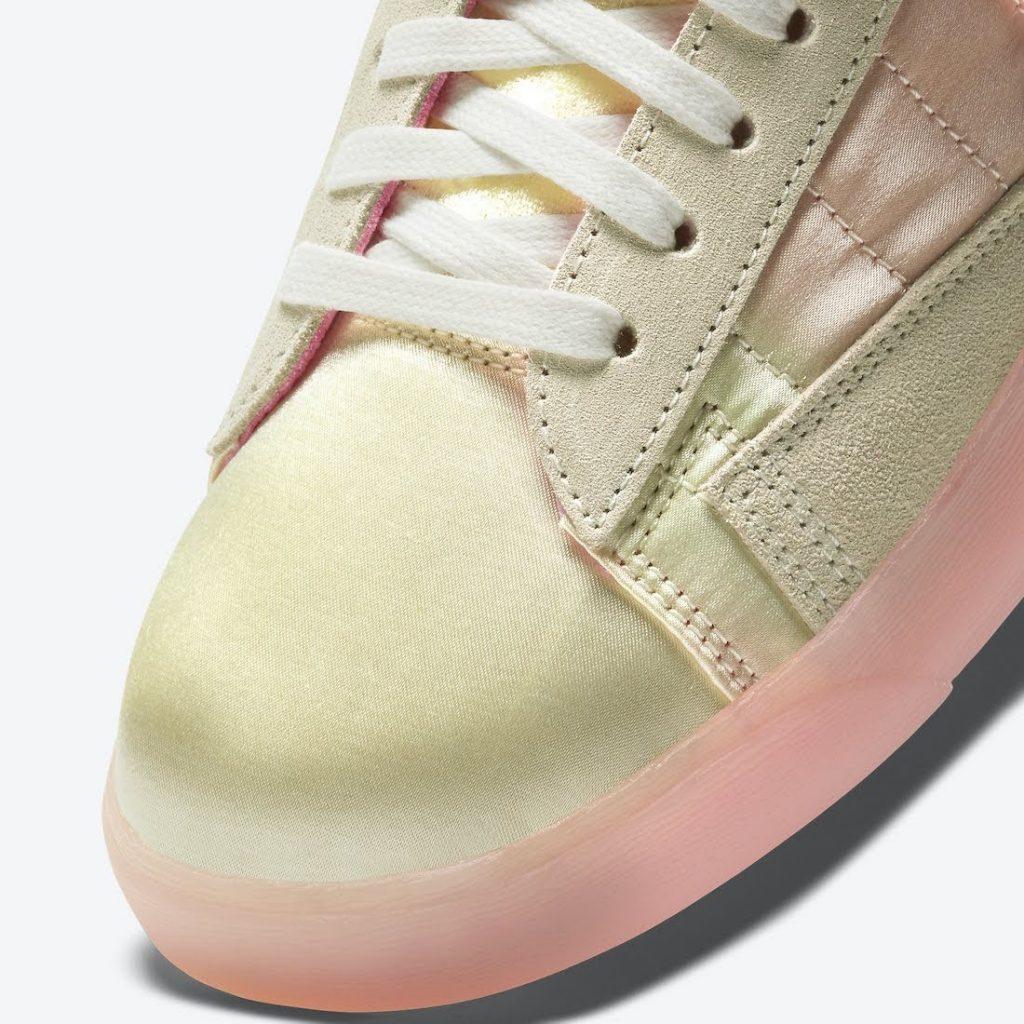 """ナイキ ブレーザー ミッド レベル """"スプリング フェスティバル Nike-Blazer-Mid-Rebel-Spring-Festival-DD8482-163-toe-closeup"""