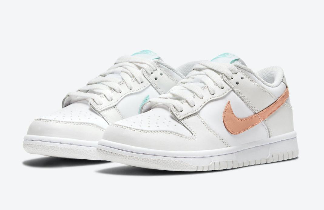 ナイキ ダンク ロー GS ミスマッチ スウッシュ Nike-Dunk-Low-GS-Mismatch-Swoosh-CW1590-101
