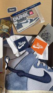 """ノートル × ナイキ ダンク ハイ """"ブルー ボイド"""" Notre-Nike-Dunk-High-Blue-Void-CW3092-400-side"""