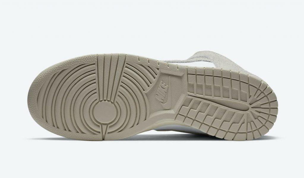 """ノートル × ナイキ ダンク ハイ """"ライト オアウッド ブラウン"""" Notre-Nike-Dunk-High-Light-Orewood-Brown-CW3092-100-sole"""
