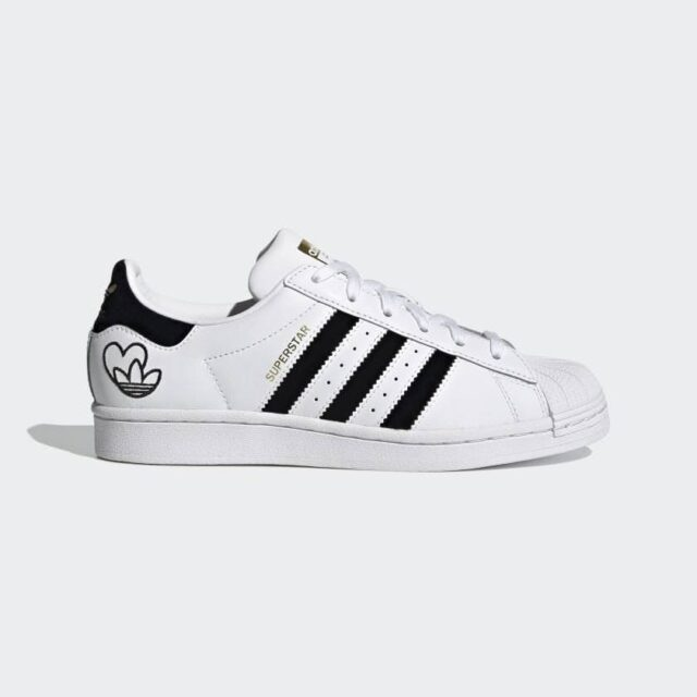 """アディダス スーパースター """"ハートロゴ"""" Superstar_Shoes_White_FY4755_1-side"""