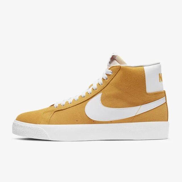 """ナイキ SB ブレーザー ミッド """"ユニバーシティーゴールド"""" Nike-SB-Blazer-Mid-University-Gold-864349-700-side"""