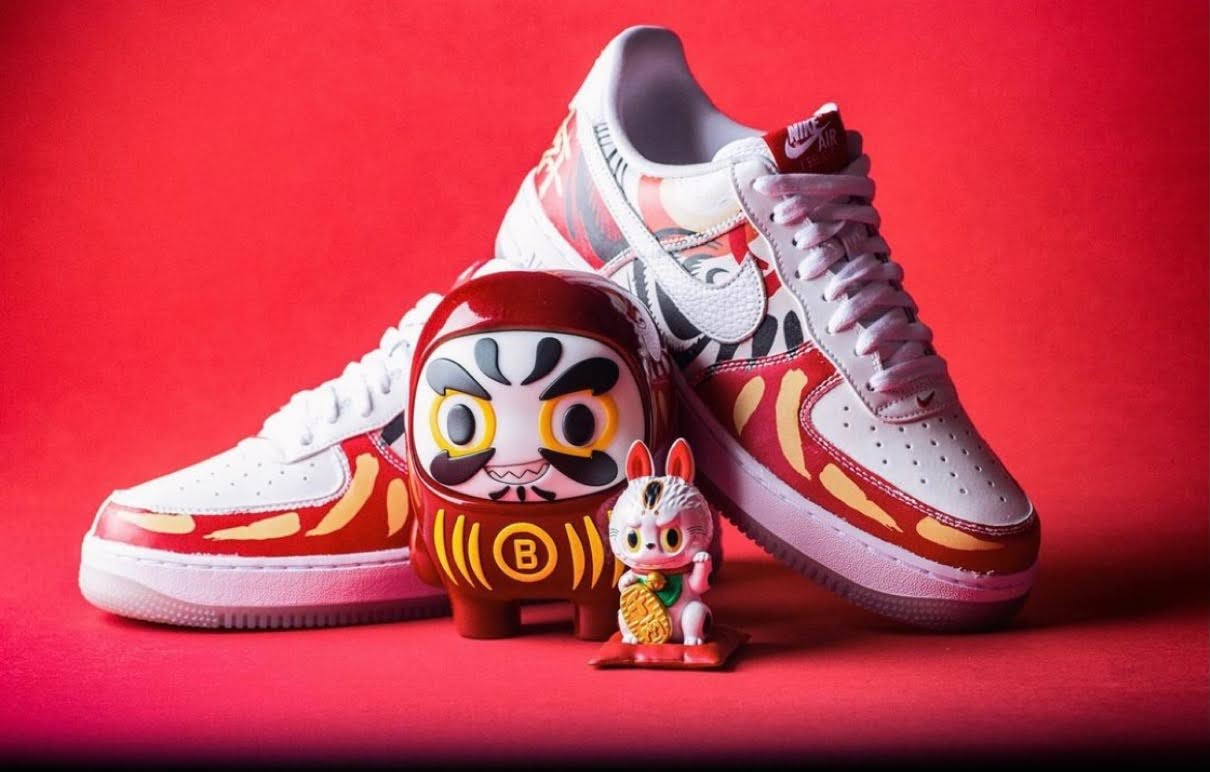 "Nike Air Force 1 Low ""I Believe DARUMA"" / ナイキ エア フォース 1 ロー ""アイ ビリーブ 達磨"" DD9941-100 main image"