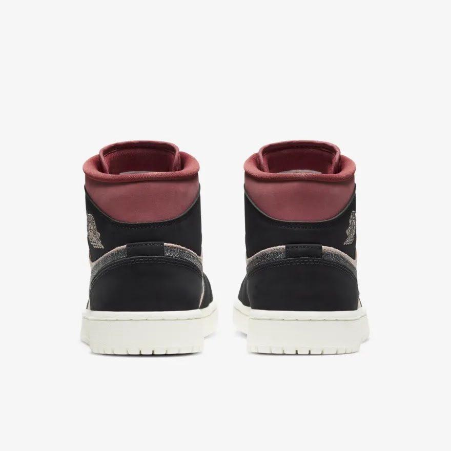 """ナイキ ウィメンズ エア ジョーダン 1 ミッド """"キャニオン ラスト"""" Nike-WMNS-Air-Jordan-1-Mid-Canyon-Rust-BQ6472-202-heel"""