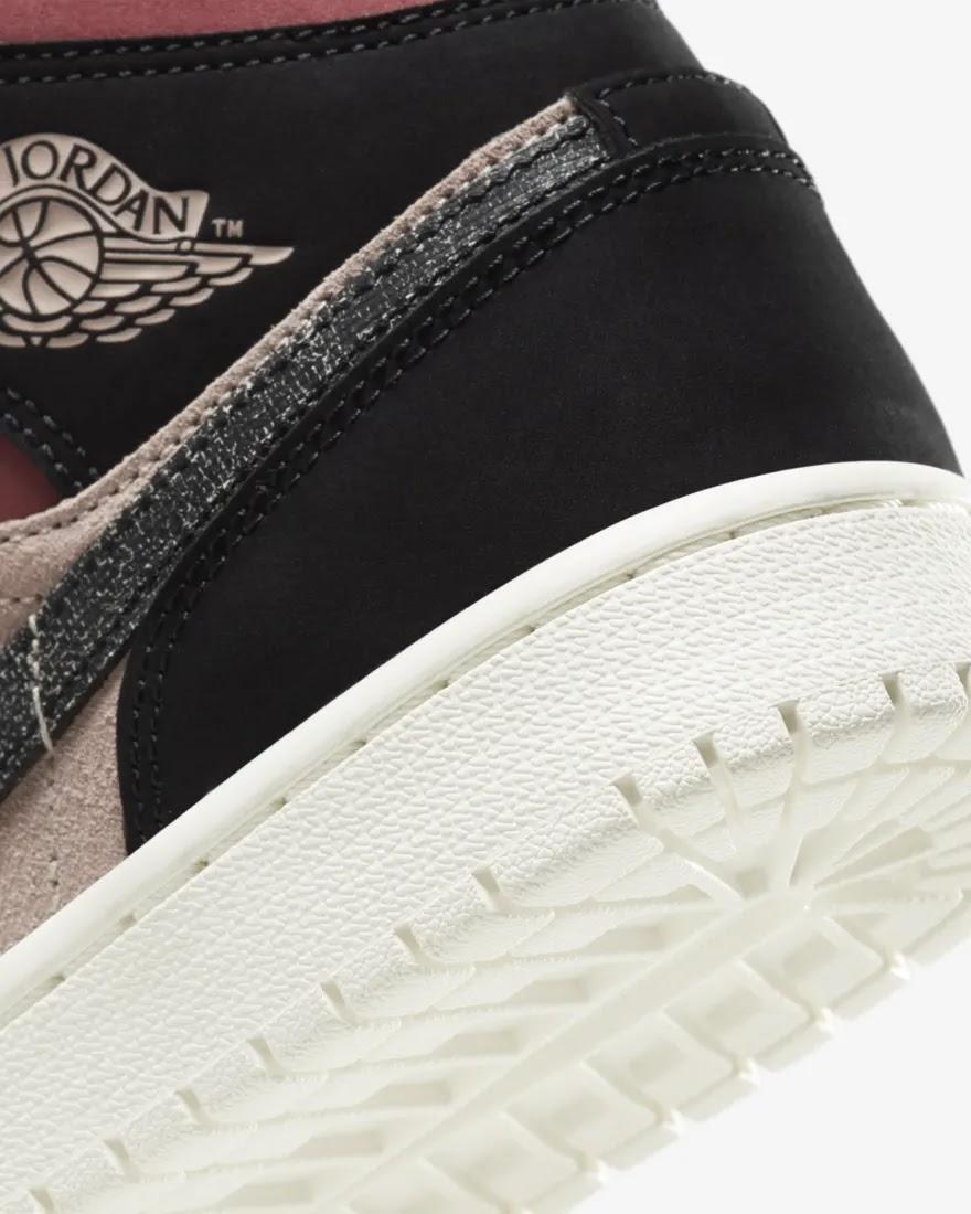 """ナイキ ウィメンズ エア ジョーダン 1 ミッド """"キャニオン ラスト"""" Nike-WMNS-Air-Jordan-1-Mid-Canyon-Rust-BQ6472-202-side-heel-closeup"""