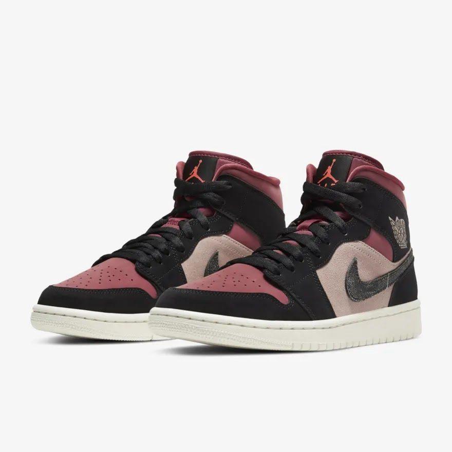 """ナイキ ウィメンズ エア ジョーダン 1 ミッド """"キャニオン ラスト"""" Nike-WMNS-Air-Jordan-1-Mid-Canyon-Rust-BQ6472-202-pair"""