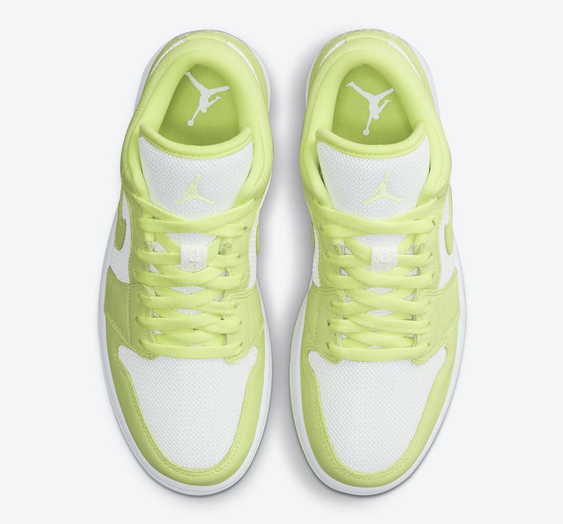 """ナイキ エア ジョーダン 1 ロー """"ライムライト"""" Nike-Air-Jordan-1-Low-Limelight-DH9619-103-top"""