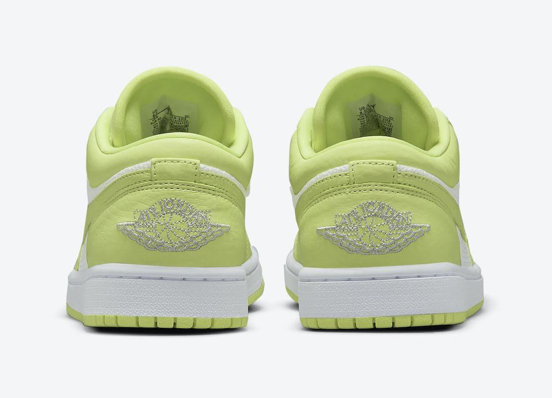 """ナイキ エア ジョーダン 1 ロー """"ライムライト"""" Nike-Air-Jordan-1-Low-Limelight-DH9619-103-heel"""