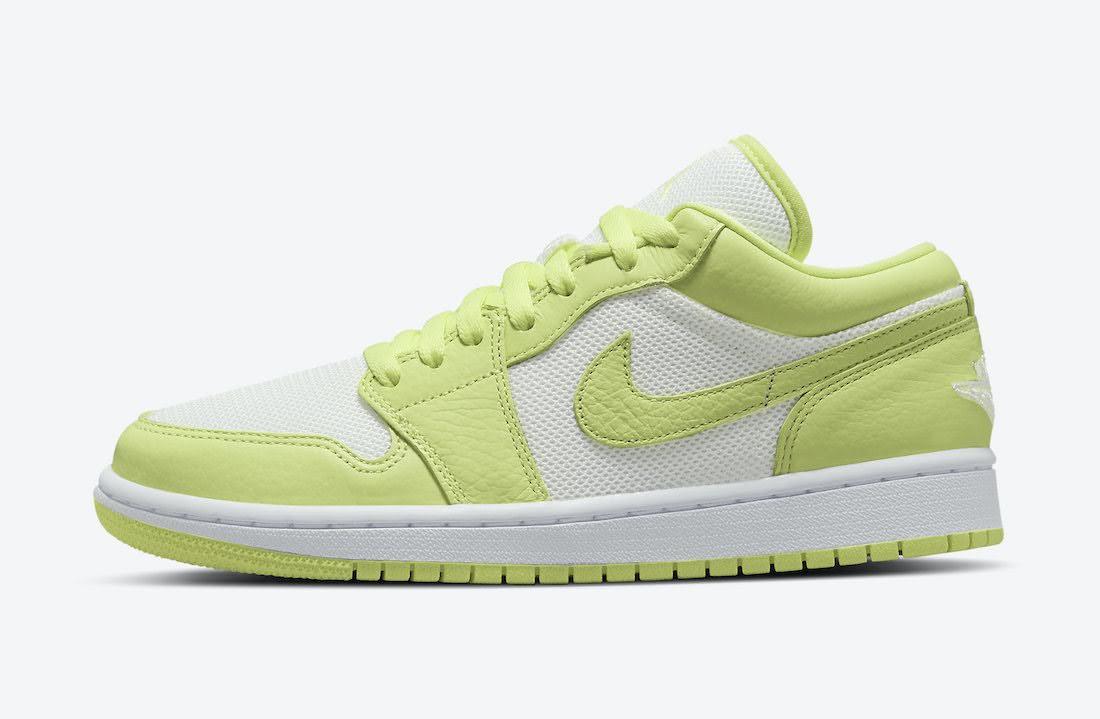 """ナイキ エア ジョーダン 1 ロー """"ライムライト"""" Nike-Air-Jordan-1-Low-Limelight-DH9619-103-side"""