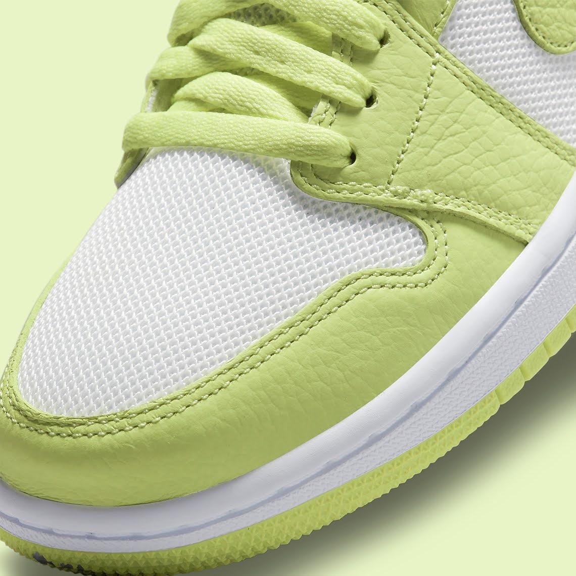"""ナイキ エア ジョーダン 1 ロー """"ライムライト"""" Nike-Air-Jordan-1-Low-Limelight-DH9619-103-toe"""