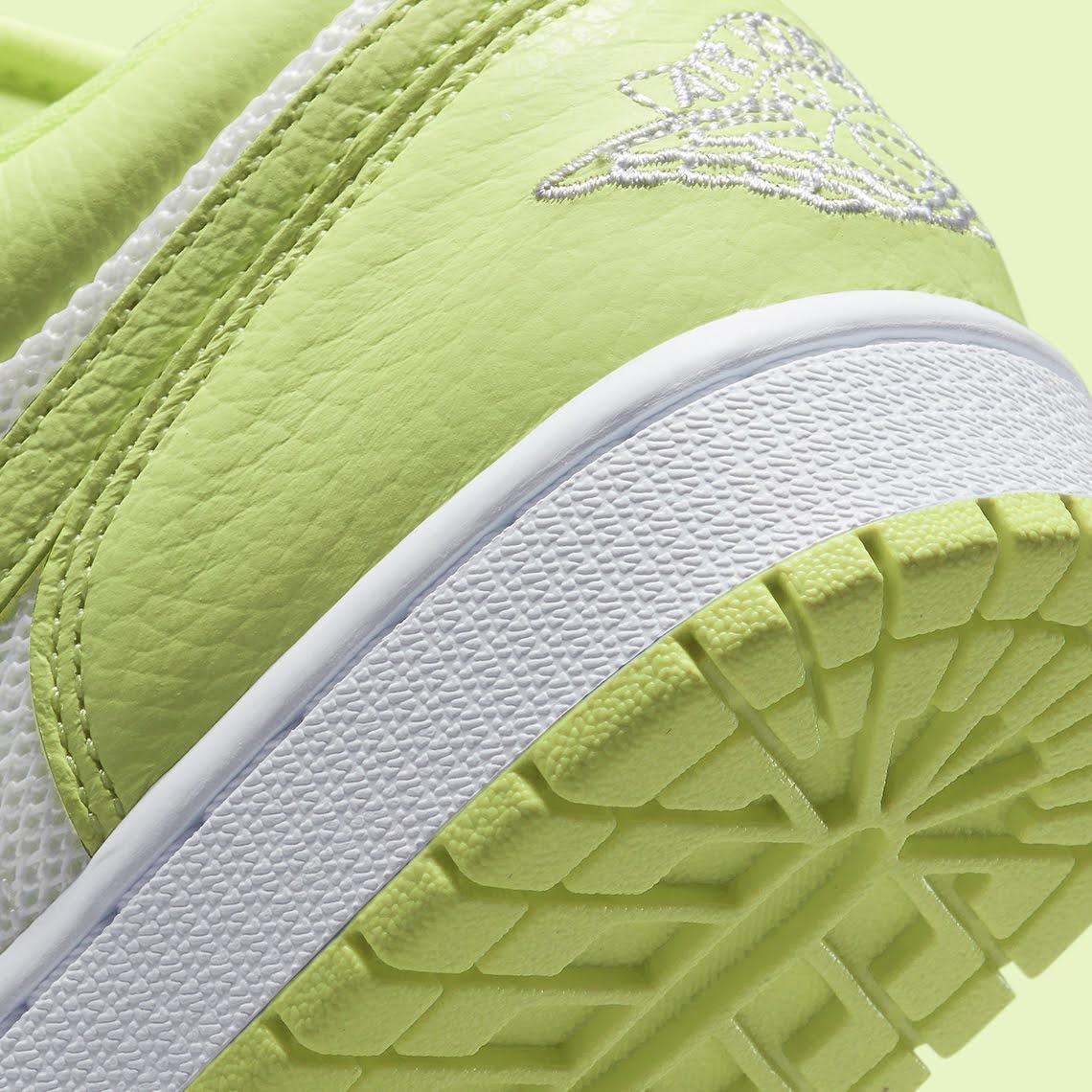 """ナイキ エア ジョーダン 1 ロー """"ライムライト"""" Nike-Air-Jordan-1-Low-Limelight-DH9619-103-side-heel-closeup"""