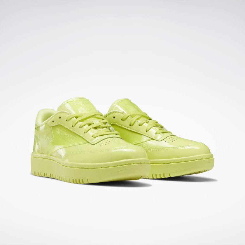 リーボック × カーディビー/ クラブ シー ダブル (ハイヴィスグリーン) Reebok_Cardi_Coated_Club_C_Double_High_Vis_Green_H02568-pair