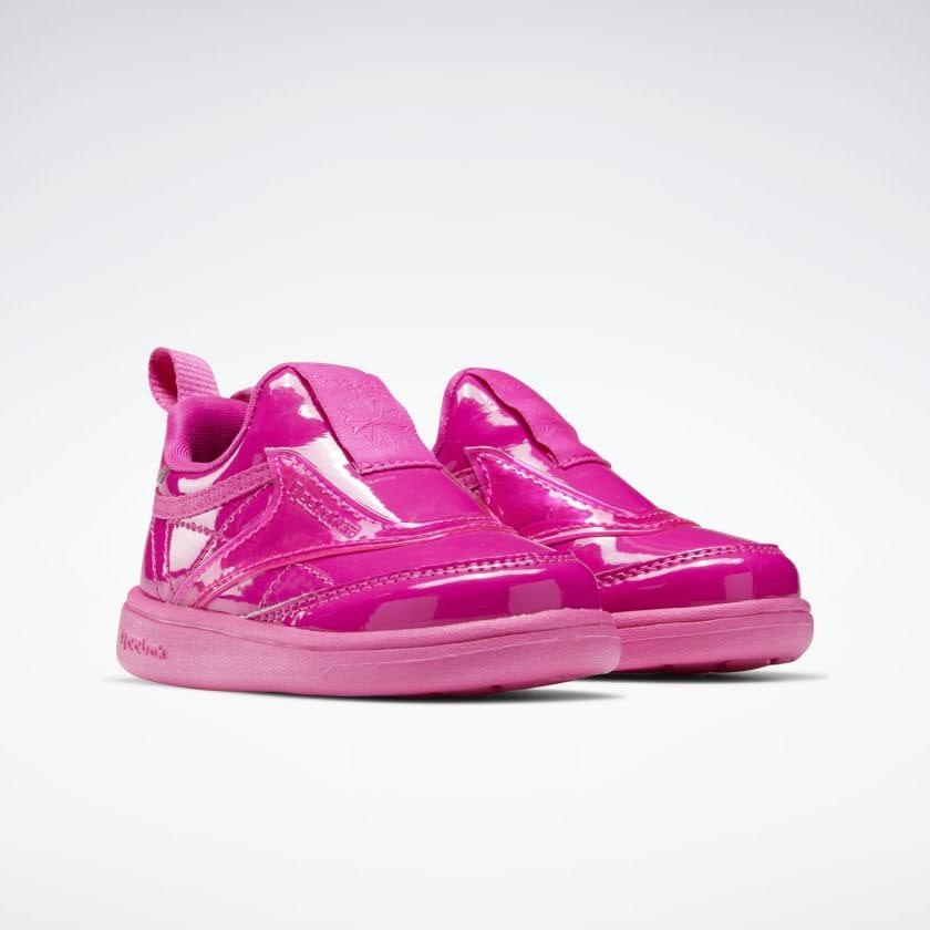 リーボック × カーディビー (トドラー)/ クラブ シー スリップオン (ダイナミックピンク) Reebok_Club_C_Cardi_Slip_on_Toddler_Pink_H02518-pair