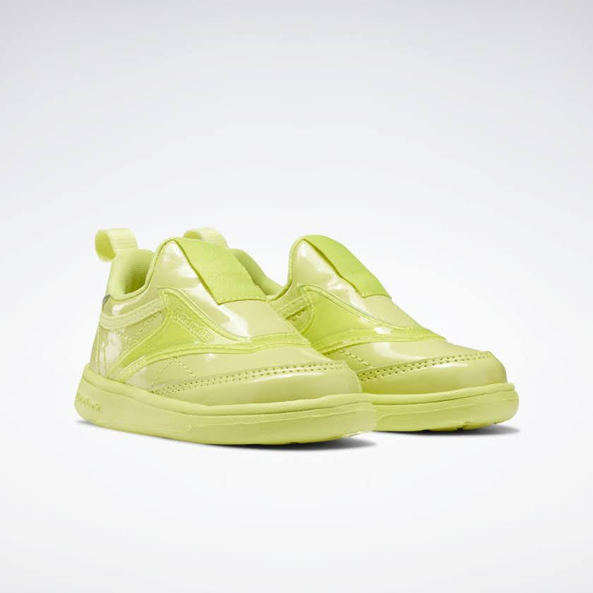 リーボック × カーディビー (トドラー)/ クラブ シー スリップオン (ハイヴィスグリーン) Reebok_Club_C_Cardi_Slip_on_Toddler_High_Vis_Green_H02520-pair