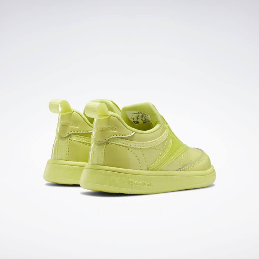 リーボック × カーディビー (トドラー)/ クラブ シー スリップオン (ハイヴィスグリーン) Reebok_Club_C_Cardi_Slip_on_Toddler_High_Vis_Green_H02520-pair-back