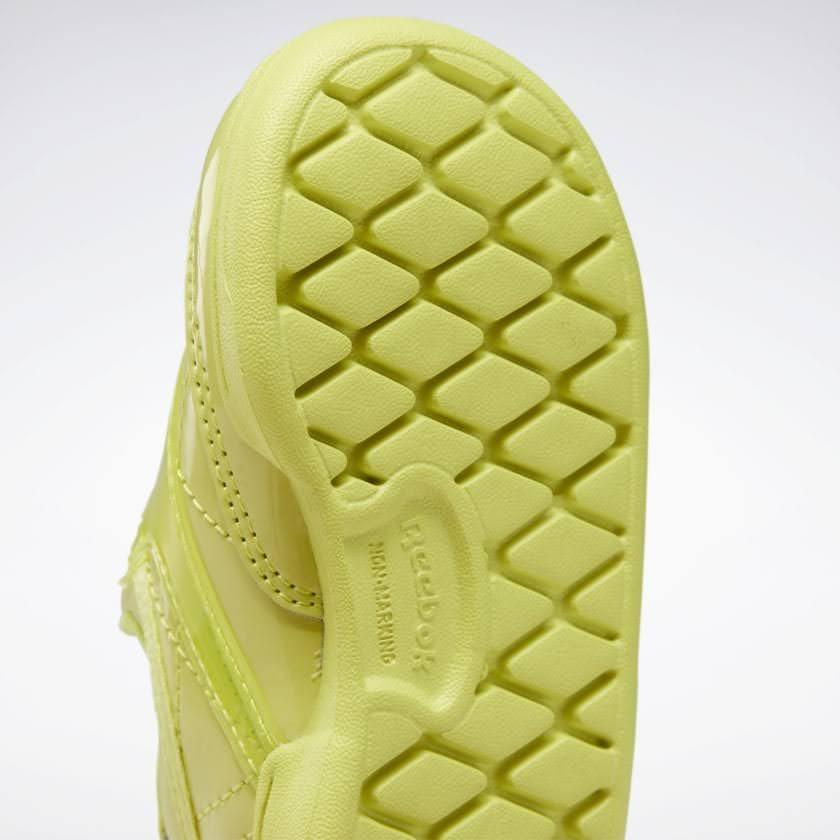 リーボック × カーディビー (トドラー)/ クラブ シー スリップオン (ハイヴィスグリーン) Reebok_Club_C_Cardi_Slip_on_Toddler_High_Vis_Green_H02520-sole-closeup