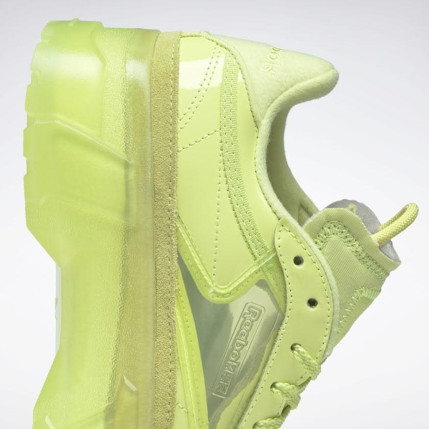 リーボック × カーディビー/ クラブ シー カーディ (ハイヴィスグリーン) Reebok_Club_C_Cardi_High_Vis_Green_H01010-side-heel-closeup