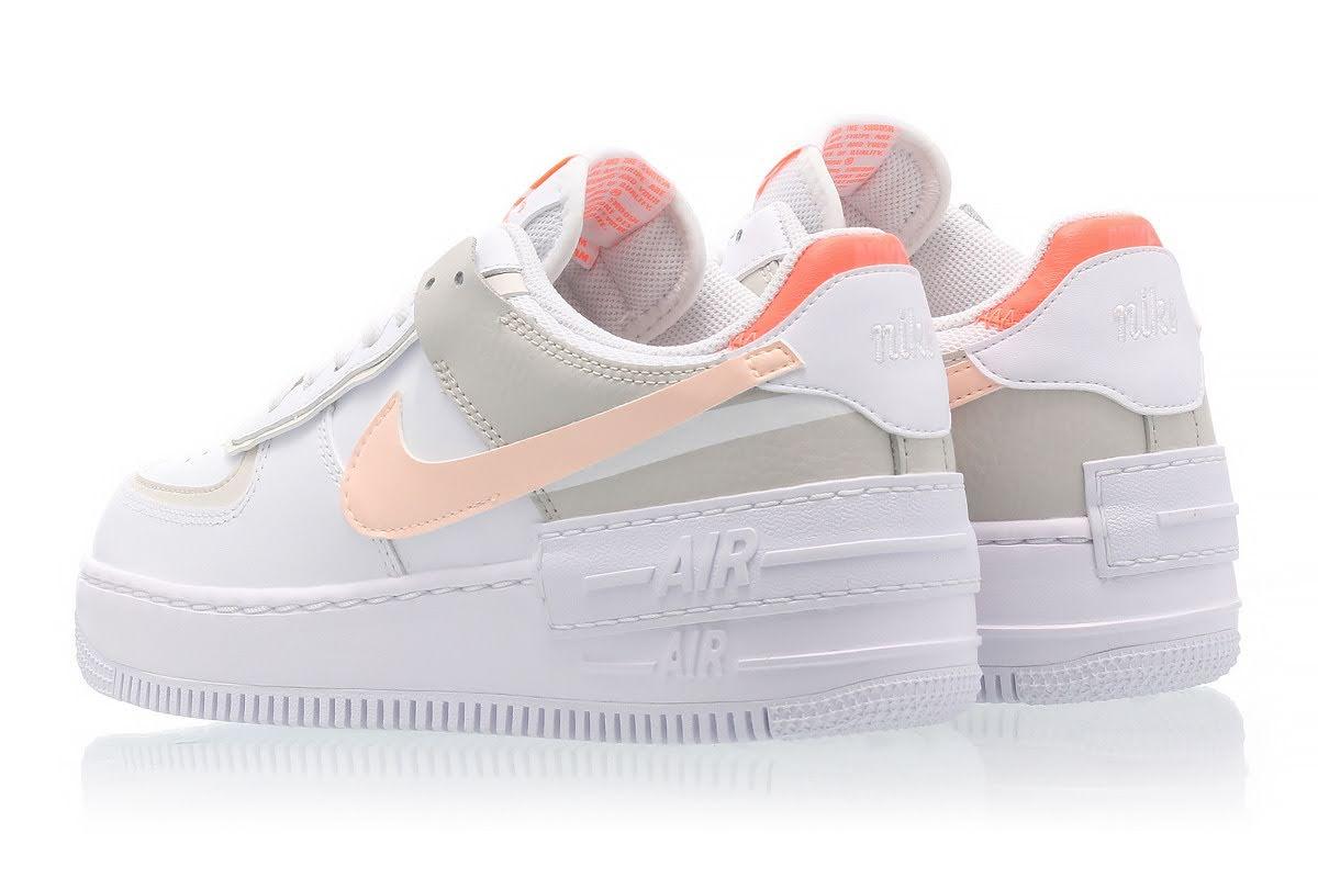 """ナイキ ウィメンズ エア フォース 1 シャドウ """"ブライト マンゴー"""" Nike-WMNS-Air-Force-1-Shadow-Bright-Mango-DH3896-100-pair-back"""