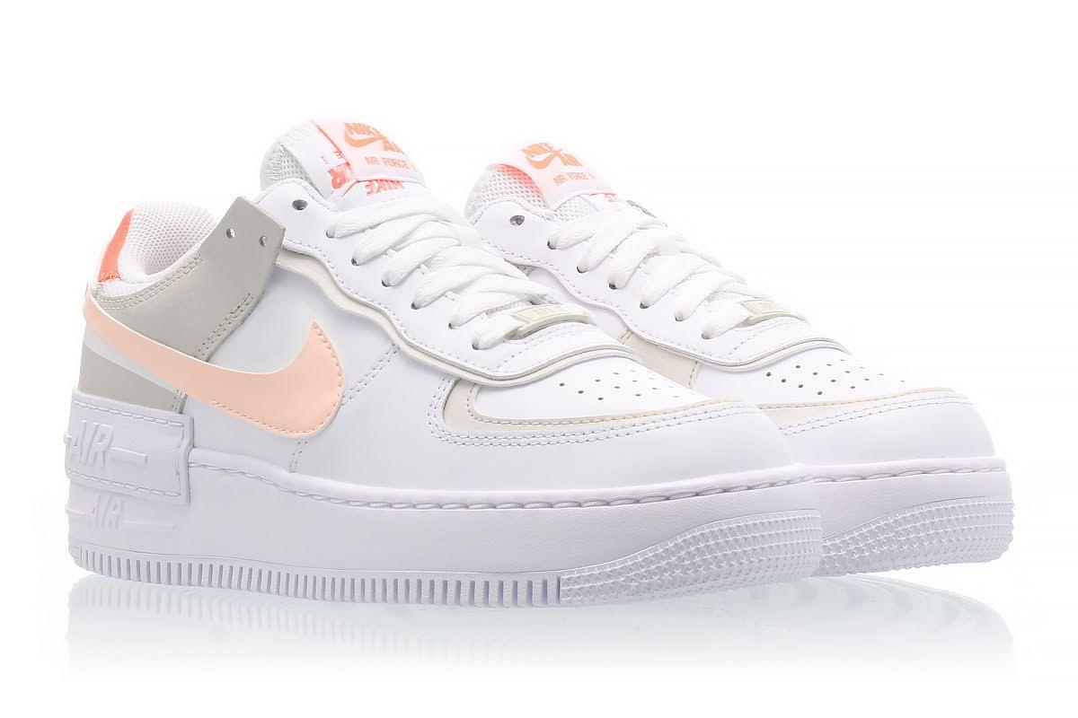 """ナイキ ウィメンズ エア フォース 1 シャドウ """"ブライト マンゴー"""" Nike-WMNS-Air-Force-1-Shadow-Bright-Mango-DH3896-100-pair-front"""