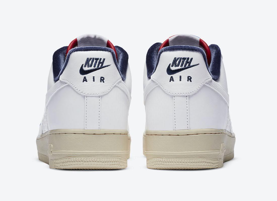 """キス × ナイキ エア フォース 1 """"フランス"""" Kith-Nike-Air-Force-1-France-Paris-CZ7927-100-heel"""