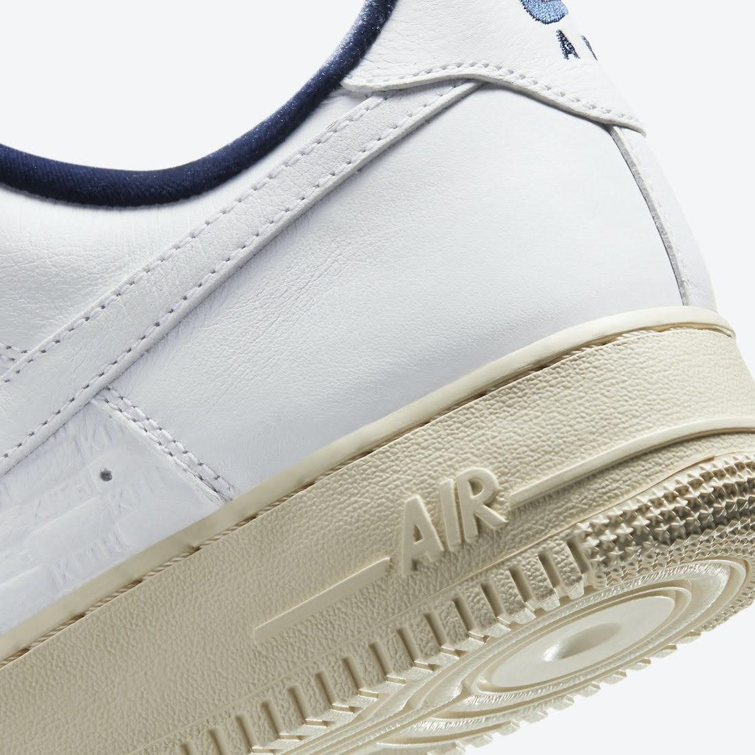 """キス × ナイキ エア フォース 1 """"フランス"""" Kith-Nike-Air-Force-1-France-Paris-CZ7927-100-side-heel-clouseup"""
