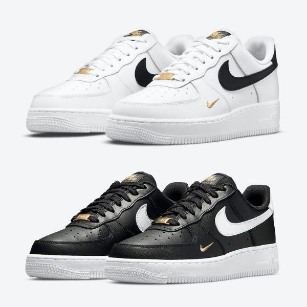 """2021年発売【Nike Air Force 1 Low """"Gold Mini-Swoosh"""" 2 Colors】"""