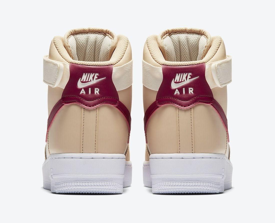 """ナイキ ウィメンズ エア フォース 1 ハイ """"ノーブル レッド"""" Nike-Air-Force-1-High-WMNS-334031-200-heel"""
