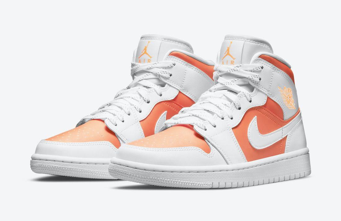"""ナイキ エア ジョーダン 1 ミッド SE """"ブライト シトラス"""" Nike-Air-Jordan-1-Mid-SE-Bright-Citrus-CZ0774-800-pair"""