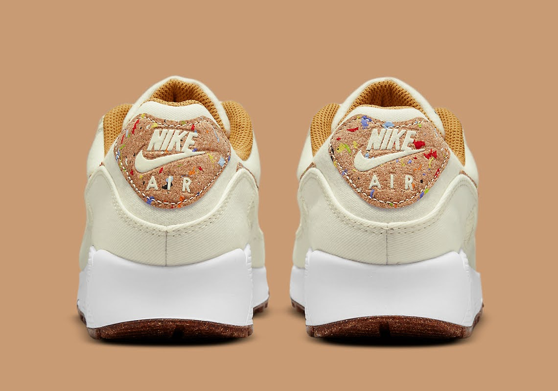 """ナイキ エア マックス 90 フローラ パック """"コルク"""" Nike-Air-Max-90-Cork-DD0384-100-heel"""