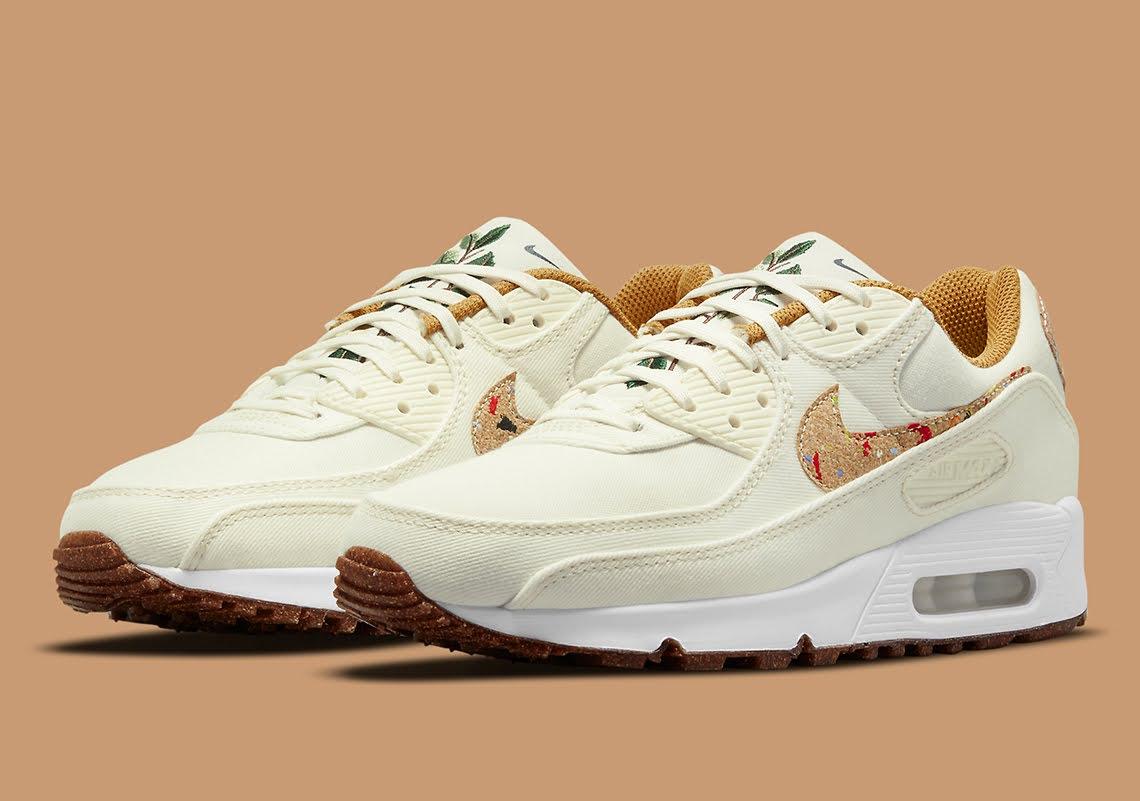 """ナイキ エア マックス 90 フローラ パック """"コルク"""" Nike-Air-Max-90-Cork-DD0384-100-pair"""