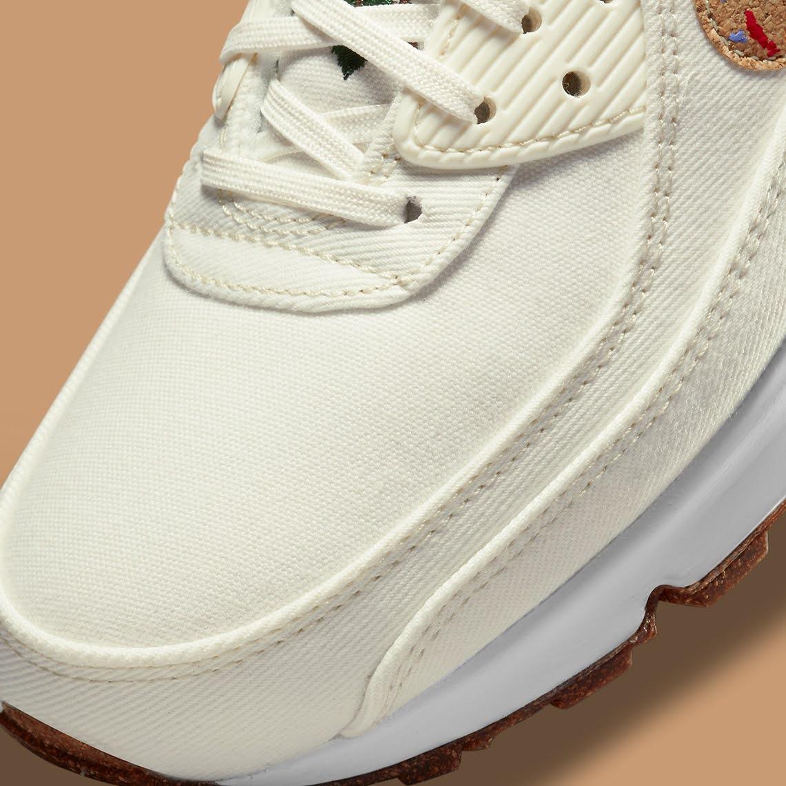 """ナイキ エア マックス 90 フローラ パック """"コルク"""" Nike-Air-Max-90-Cork-DD0384-100-toe"""