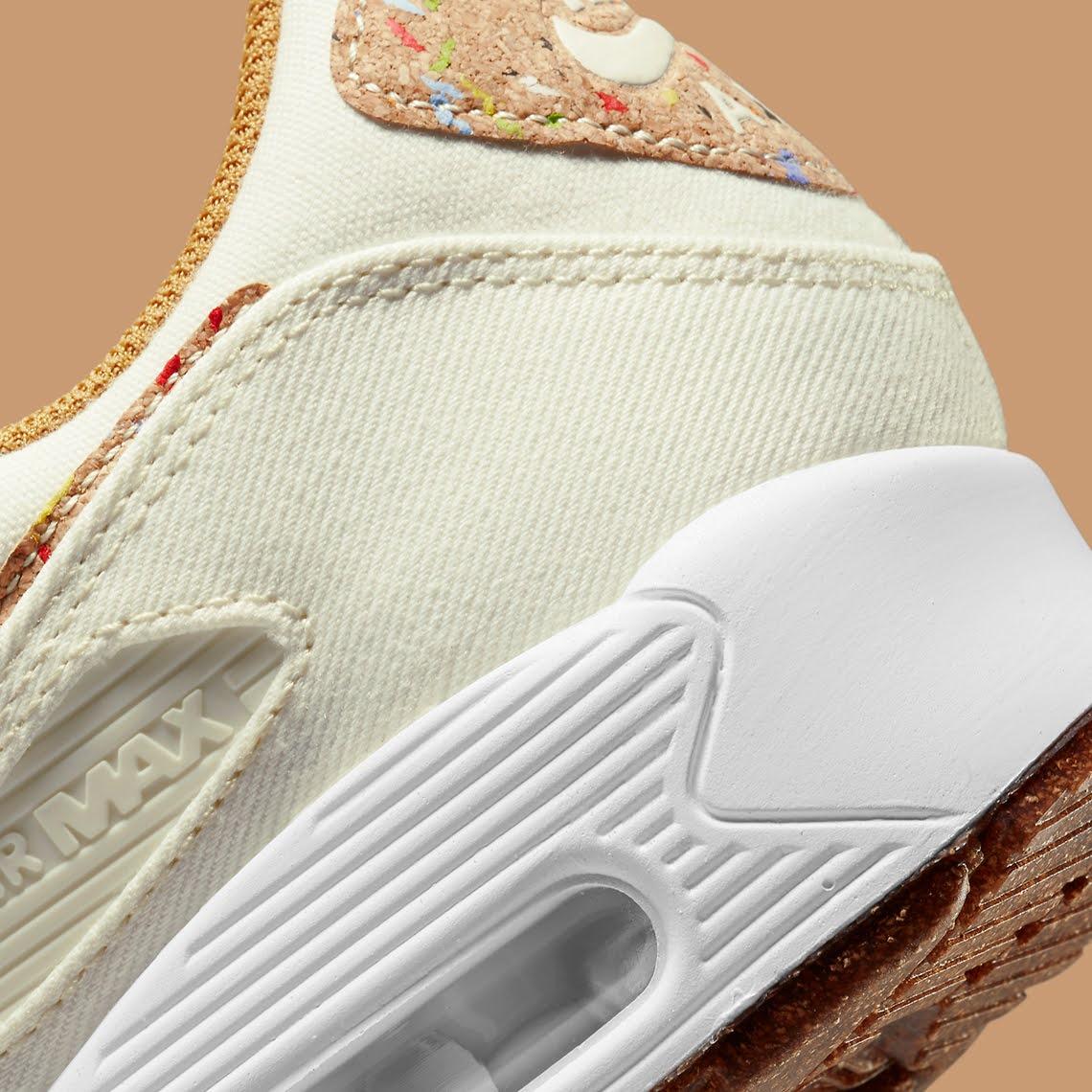 """ナイキ エア マックス 90 フローラ パック """"コルク"""" Nike-Air-Max-90-Cork-DD0384-100-side-heel"""
