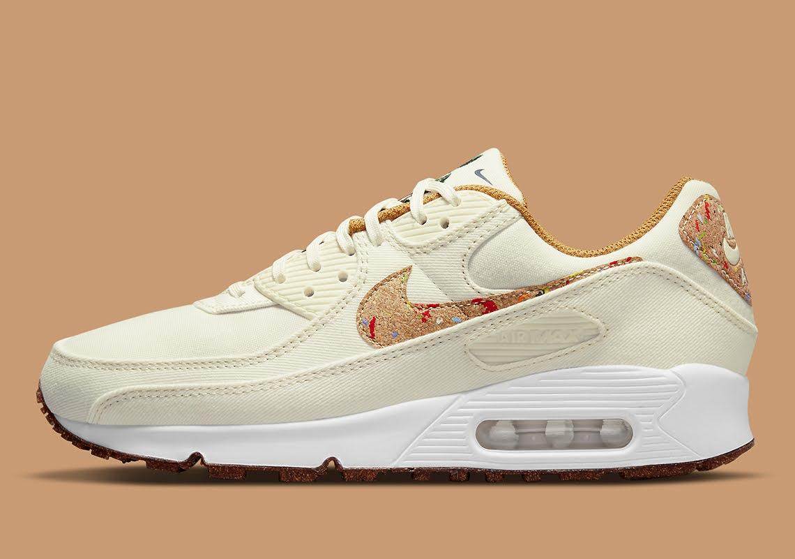 """ナイキ エア マックス 90 フローラ パック """"コルク"""" Nike-Air-Max-90-Cork-DD0384-100-side"""