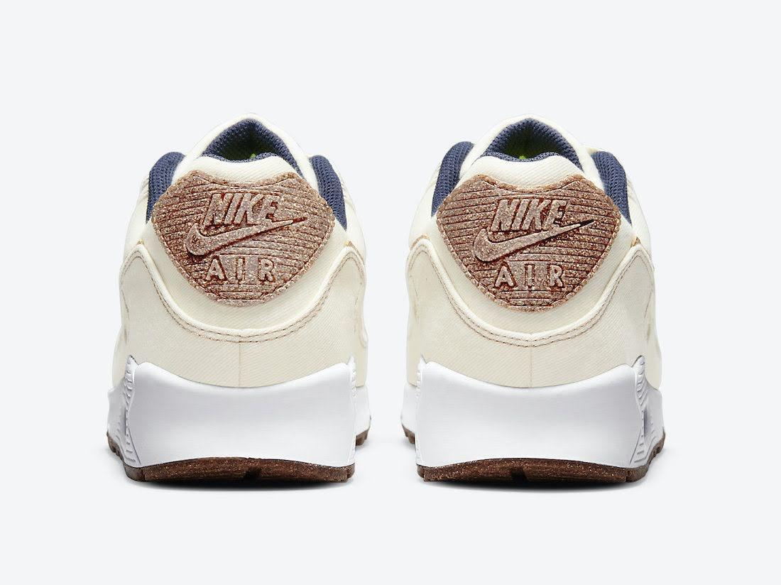 """ナイキ エア マックス 90 """"コルク"""" Nike-Air-Max-90-Cork-DD0385-100-heel"""
