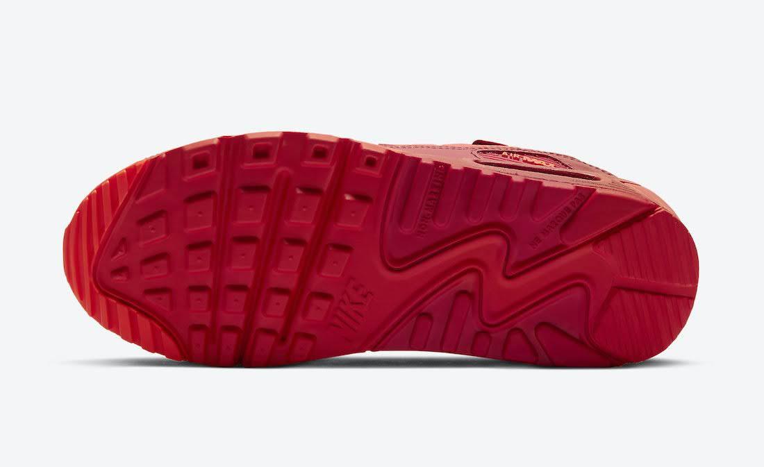 """ナイキ エア マックス 90 """"シカゴシティ スペシャル"""" / GS Nike-Air-Max-90-GS-Chicago-DH0149-600-sole"""