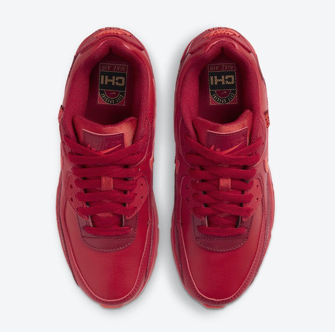 """ナイキ エア マックス 90 """"シカゴシティ スペシャル"""" / GS Nike-Air-Max-90-GS-Chicago-DH0149-600-top"""